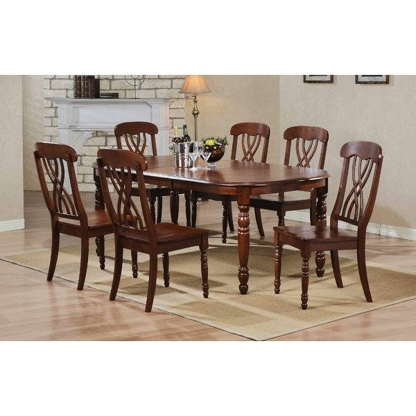 78 Inch Wood Furniture | Wayfair Regarding Helms 6 Piece Rectangle Dining Sets With Side Chairs (View 4 of 25)