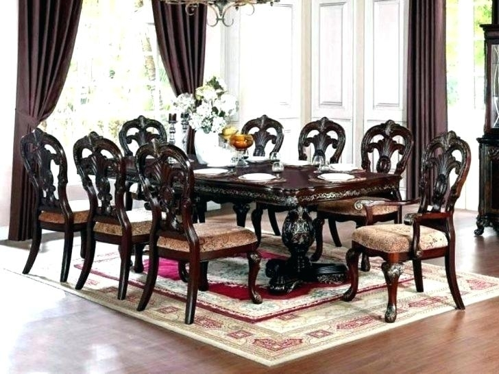 8 Chair Dining Room Set Table With Chairs Monstaahorg Gorgeous Round With Regard To 8 Chairs Dining Sets (Image 7 of 25)