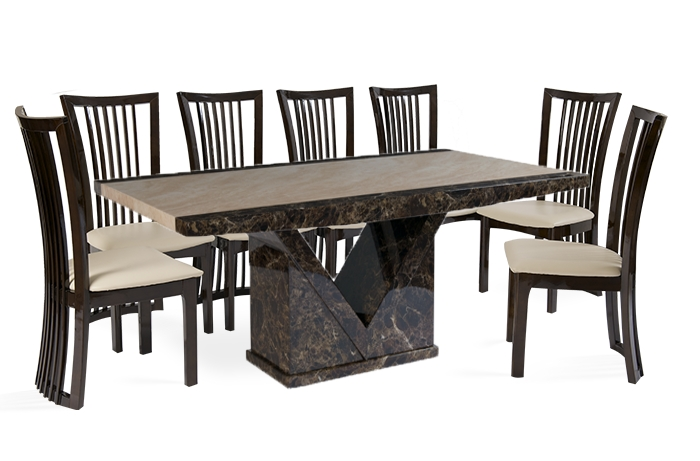 8 Chair Dining Sets | Product Categories | Thomas Brown Furnishings Throughout 8 Seat Dining Tables (Image 3 of 25)