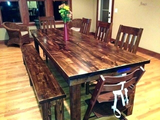 8 Ft Dining Tables 8 Foot Dining Table 8 Foot Farm Table Excellent In Farm Dining Tables (Image 4 of 25)