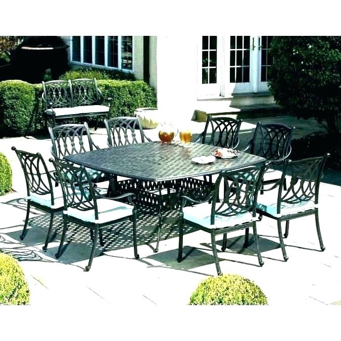 8 Person Dining Set Round Outdoor Dining Sets For 6 8 Person Patio Regarding 8 Seat Outdoor Dining Tables (View 2 of 25)