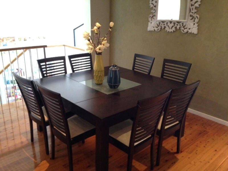8 Seat Dining Table Contemporary Black Glass Dining Set Delivery Throughout Black 8 Seater Dining Tables (View 13 of 25)