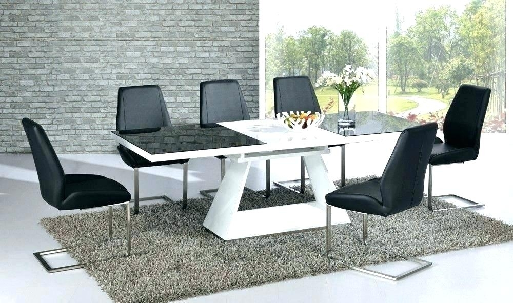 8 Seat Extending Dining Table Modern Grey And White Extending Dining In Extending Dining Tables And 8 Chairs (Image 1 of 25)