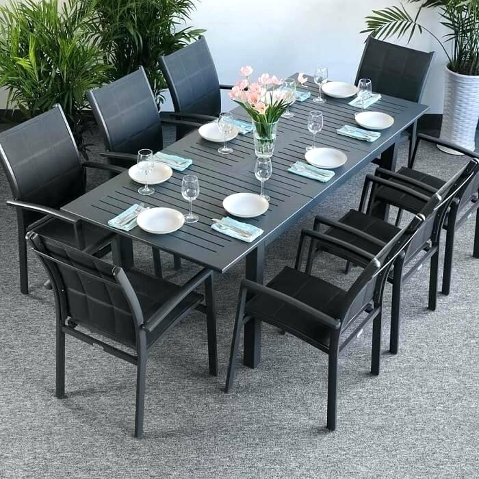 8 Seat Outdoor Dining Set – Sportsdaily (Image 4 of 25)
