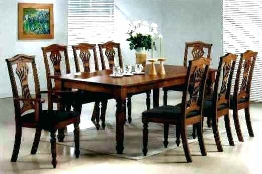 8 Seater Dining Table 8 Seater Dining Room Sets Square 8 Seater Intended For 8 Seater Black Dining Tables (Image 7 of 25)
