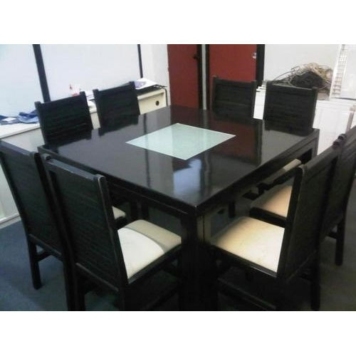 8 Seater Dining Table At Rs 16000 /piece   Chaukor Khaane Ki Mez With Regard To Black 8 Seater Dining Tables (Image 6 of 25)