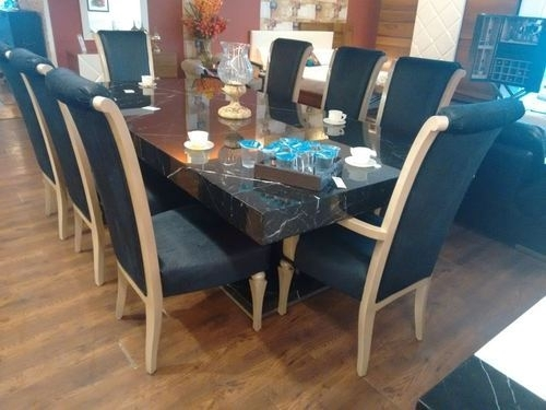 8 Seater Dining Table Set, Wooden Dining Set | Ghitorni, New Delhi Inside 8 Seater Round Dining Table And Chairs (Image 6 of 25)