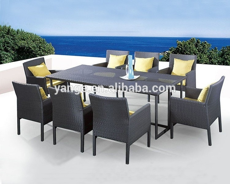 8 Seater Italian Rattan Dining Table Chairs Garden Furniture - Buy inside Garden Dining Tables And Chairs