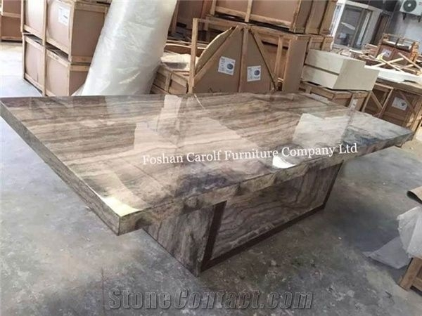 8 Seater Luxury Stone Marble Dining Table Set From China with regard to Stone Dining Tables