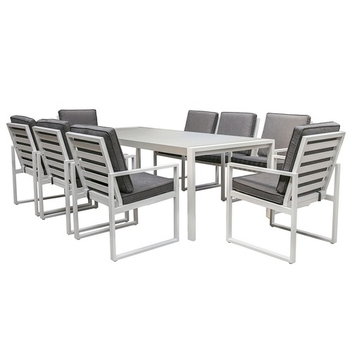 8 Seater Manly Outdoor Dining Table & Chair Set | Temple & Webster Pertaining To 8 Seat Outdoor Dining Tables (Image 9 of 25)