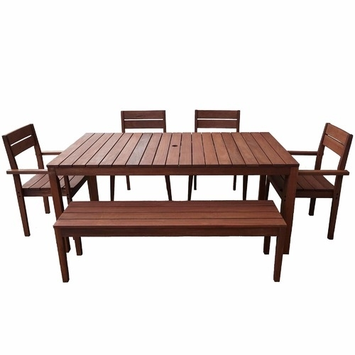 8 Seater Outdoor Dining Table Set | Temple & Webster Intended For 8 Seat Outdoor Dining Tables (Image 10 of 25)