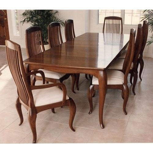 8 Seater Wooden Dining Table Set, Dining Table Set - Craft Creations within 8 Seater Dining Table Sets
