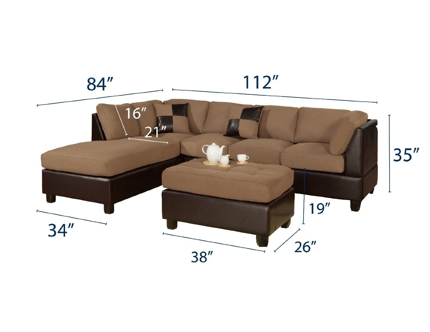 84 Inch Sectional Sofa Inspirational Magnolia Homejoanna Gaines With Magnolia Home Homestead 3 Piece Sectionals By Joanna Gaines (Image 2 of 25)
