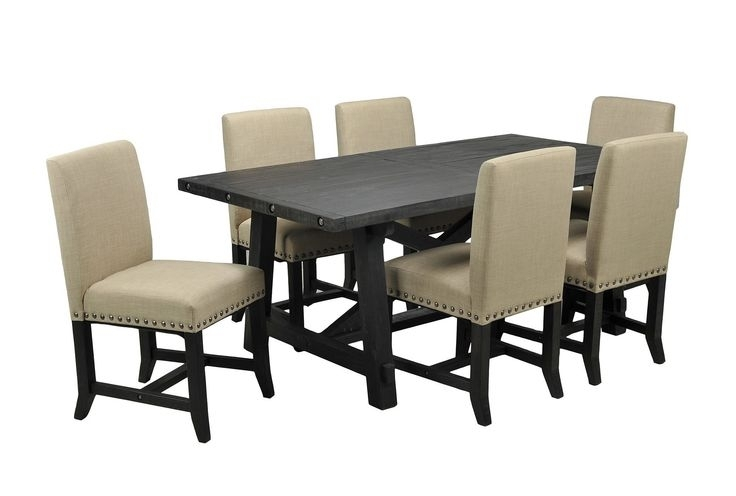 9 Best Dining Room Images On Pinterest | Dining Rooms, Dining Room Throughout Jaxon Grey 7 Piece Rectangle Extension Dining Sets With Uph Chairs (Image 3 of 25)