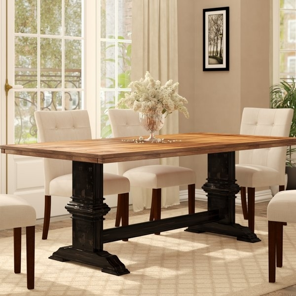 9 Ft Dining Table | Wayfair Within Craftsman 9 Piece Extension Dining Sets (View 24 of 25)