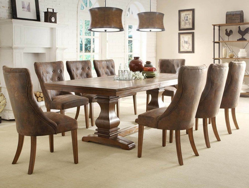 9 Piece Dining Room Table Sets | Few Piece Dining Room Set With Regard To Craftsman 9 Piece Extension Dining Sets With Uph Side Chairs (Image 4 of 25)