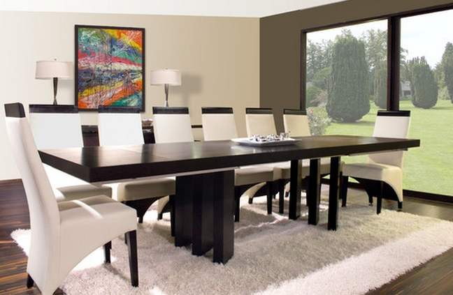9 Piece Dining Sets For A Modern Dining Room – Cute Furniture In Modern Dining Sets (Image 4 of 25)