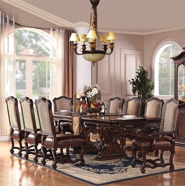 9 Piece Espresso Dining Set | Migrant Resource Network Intended For Palazzo 7 Piece Rectangle Dining Sets With Joss Side Chairs (Image 10 of 25)