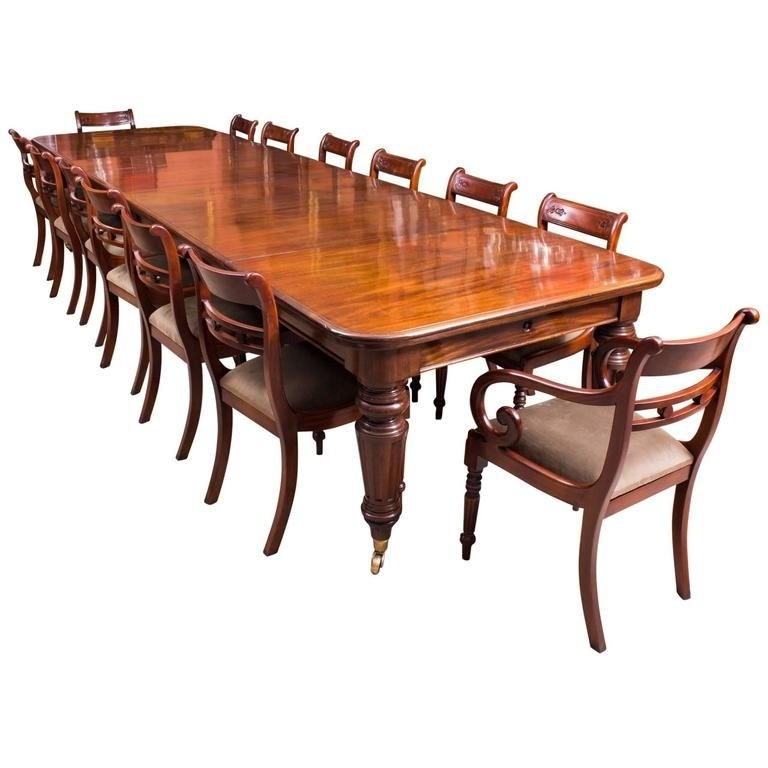 A Beautiful Dining Set Comprising An Antique Victorian Flame Intended For Mahogany Extending Dining Tables And Chairs (Image 1 of 25)