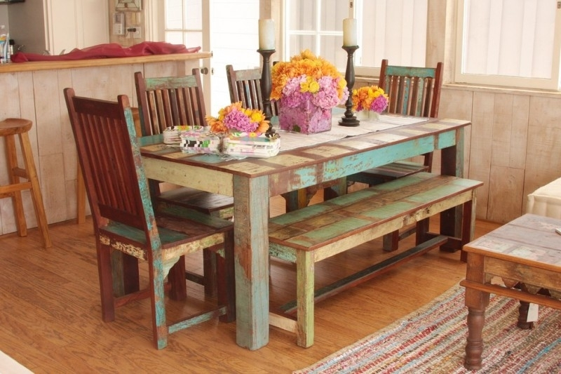 A Bench In Your Dining Sets | Decohoms Pertaining To Indian Dining Room Furniture (Image 3 of 25)