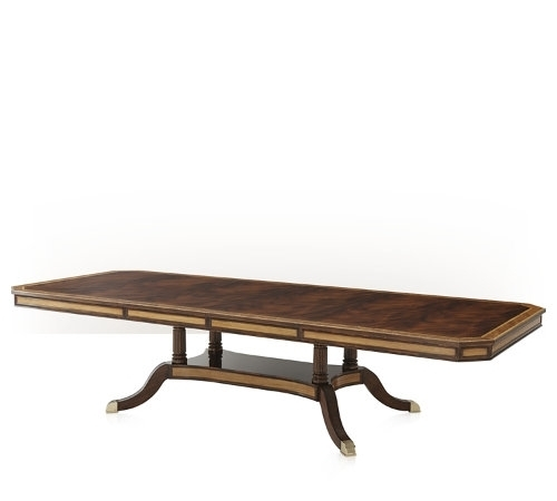 A Fine Flame Mahogany Extending Dining Table Pertaining To Mahogany Extending Dining Tables (Image 1 of 25)