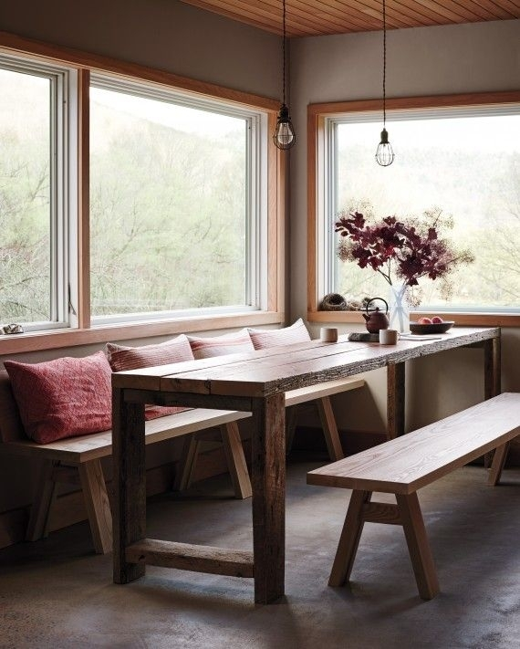 A Handcrafted Home: The House Tour | Interiors | Pinterest | Barn Regarding Barn House Dining Tables (Image 5 of 25)