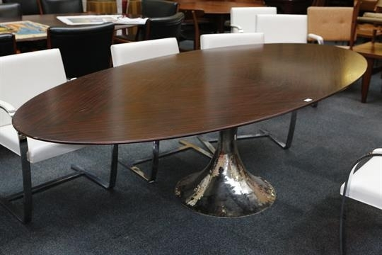 A Julian Chichester Dakota Dining Table, 21St Century, Elliptical Pertaining To Chichester Dining Tables (View 5 of 25)