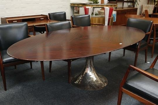 A Julian Chichester Dakota Dining Table, 21St Century, Elliptical With Regard To Chichester Dining Tables (Image 3 of 25)