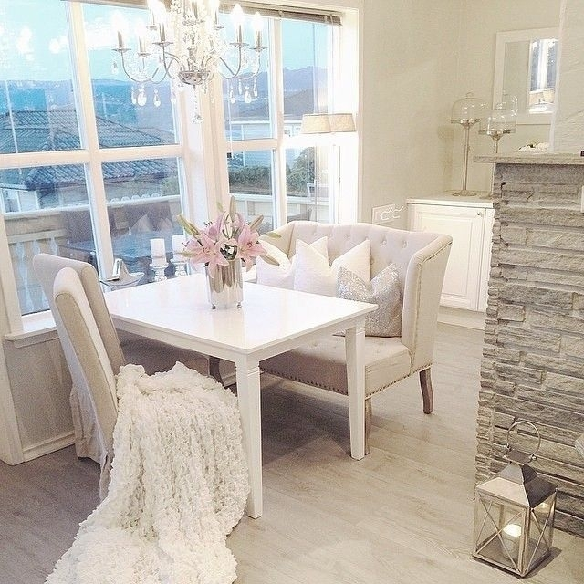 A Love Seat At The Table Is Perfect, So We Can Sit Next To Eachother Throughout Small White Dining Tables (View 25 of 25)