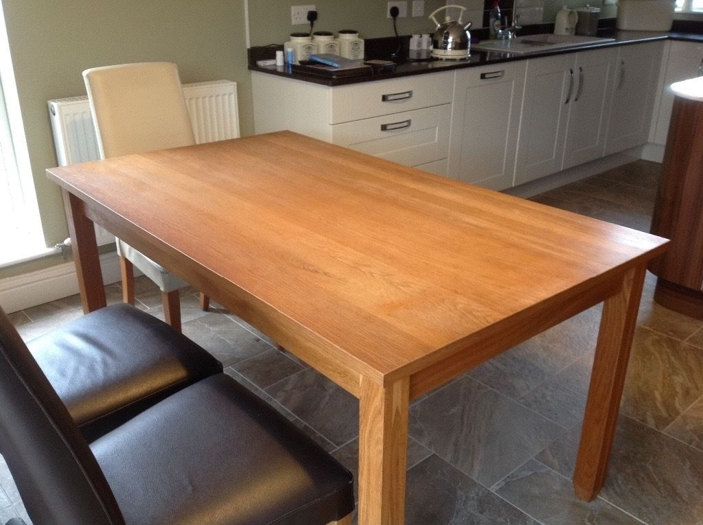A Next 6 Seater Dining Table Called The Hudson Solid Oak Sturdy Throughout Next Hudson Dining Tables (Image 1 of 25)