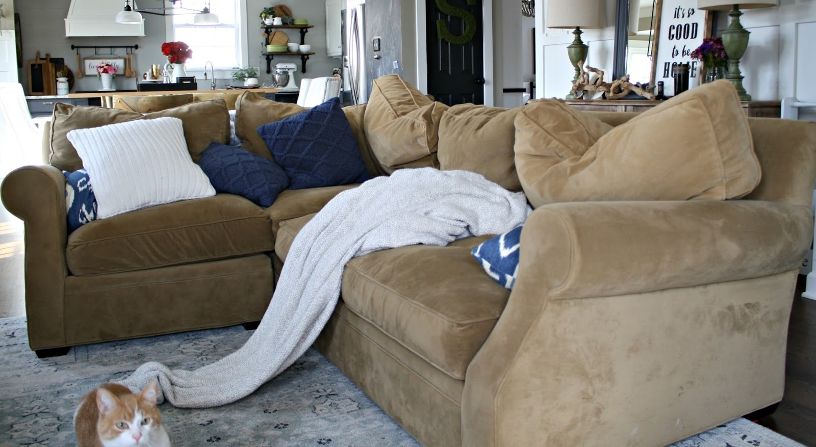 A Review Of Our Most Expensive Purchase! From Thrifty Decor Chick Regarding Harper Down 3 Piece Sectionals (Image 2 of 25)