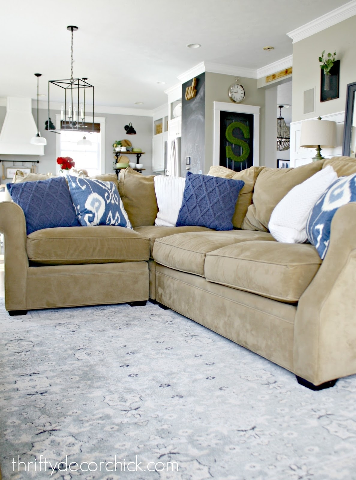 A Review Of Our Most Expensive Purchase! From Thrifty Decor Chick Within Harper Down 3 Piece Sectionals (Image 3 of 25)