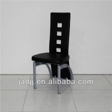 A36P Modern Black High Back Leather Metal Chairs For Dining Room Throughout High Back Leather Dining Chairs (Image 4 of 25)