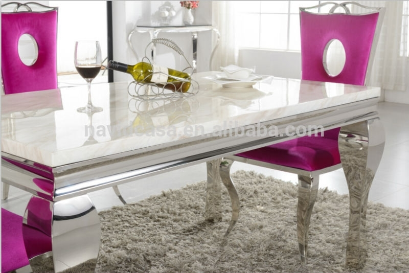A8028 Wholesale White Marble 8 Seater Dining Table And Chair – Buy With 8 Seater White Dining Tables (View 25 of 25)