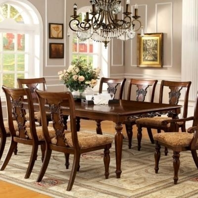 Aarsun Woods Hand Carved Teak Wood 8 Seater Dining Set | Id: 14643299048 Throughout 8 Seater Black Dining Tables (Image 15 of 25)