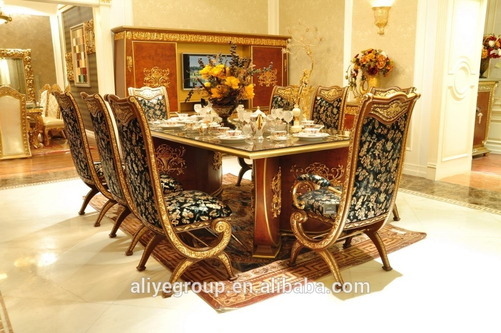 Aas46500 Royal Design Italian Style Dining Table Set Luxury Wooden Within Royal Dining Tables (Image 1 of 25)