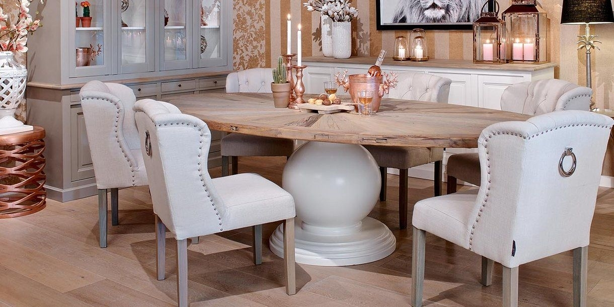 Abbey Oval Reclaimed Wood Dining Table | Dining Tables | Pinterest With Regard To Oval Reclaimed Wood Dining Tables (View 3 of 25)