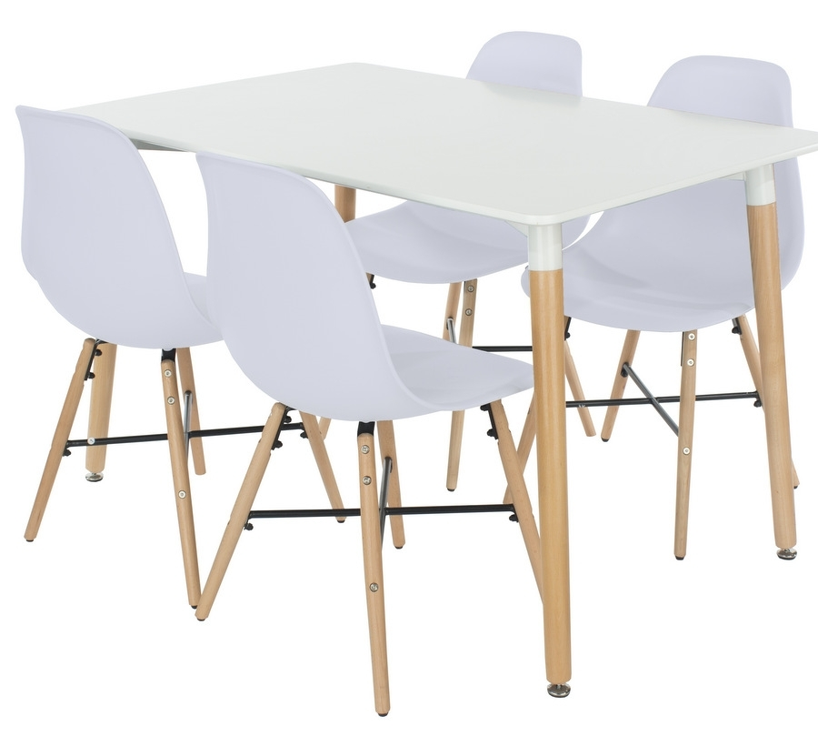 Abdabs Furniture – Aspen Rectangular White Dining Table With 4 In Aspen Dining Tables (Image 6 of 25)