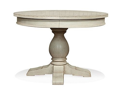 Aberdeen Round Dining Table W/ Leaf | Round Dining Table, Coastal Pertaining To Caden Round Dining Tables (Image 3 of 25)