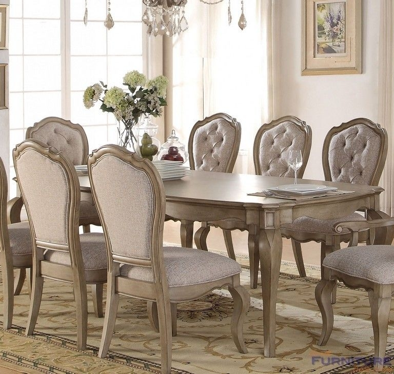 Acme Furniture – Chelmsford Antique Taupe Dining Table Two Leaves For Caira 9 Piece Extension Dining Sets (View 20 of 25)