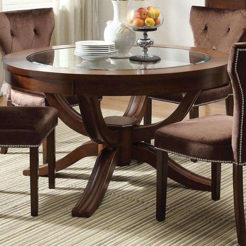 Acme Furniture Kingston 60022 Round Transitional Formal Dining Table Within Kingston Dining Tables And Chairs (View 22 of 25)