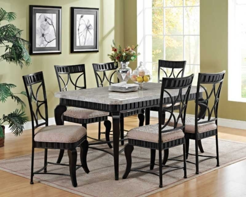 Acme Furniture – Lorencia 7 Piece Rectangle Dining Table Set – 70294 In Jaxon 7 Piece Rectangle Dining Sets With Upholstered Chairs (View 5 of 25)