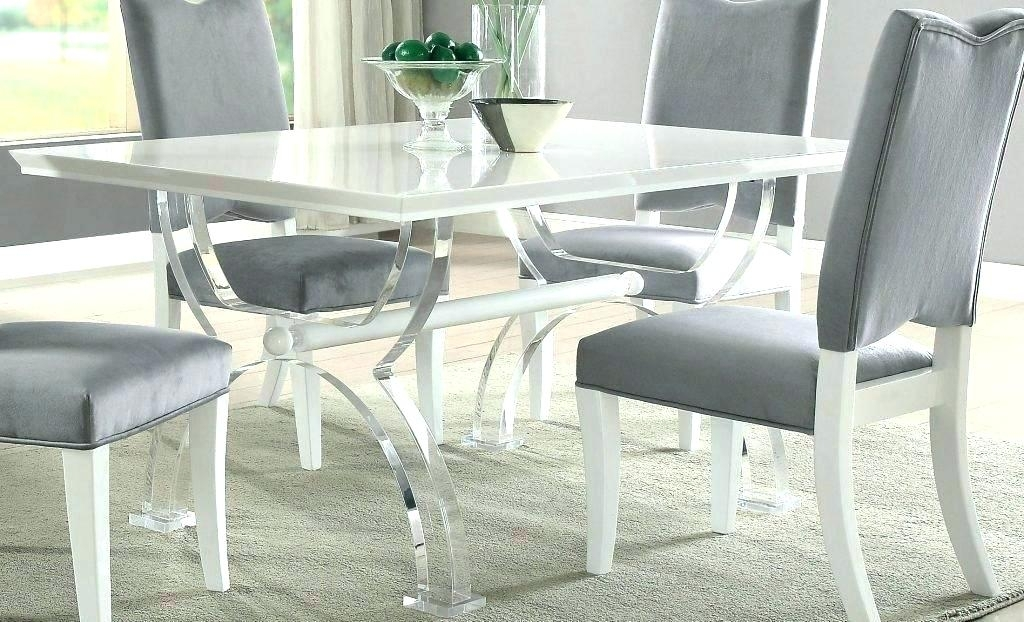 Acrylic Dining Set Chairs Chair Glass Table Seat Covers Of Gold With Regard To Acrylic Dining Tables (Image 4 of 25)
