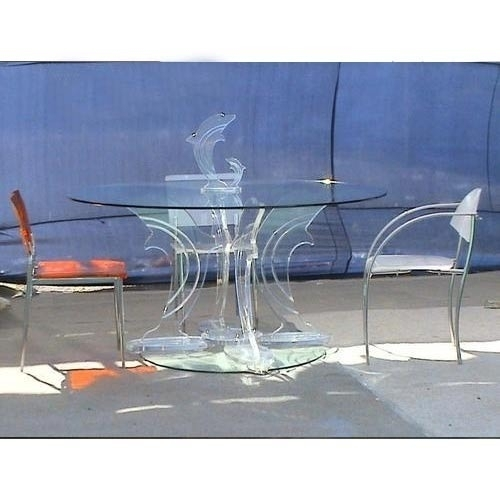 Acrylic Dining Table At Rs 30000 /piece | Acrylic Tables – Flora Art Intended For Acrylic Dining Tables (Image 6 of 25)