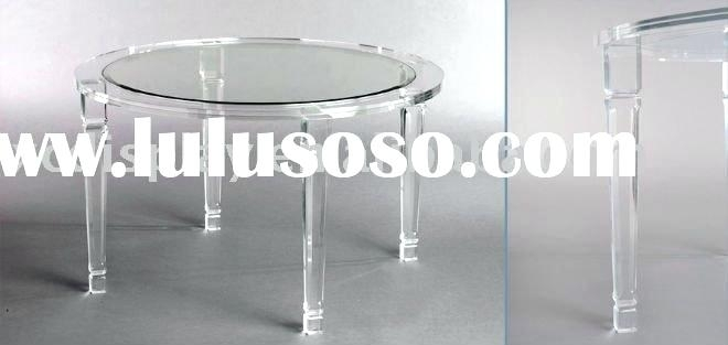 Acrylic Round Dining Table Table With Acrylic Cubes Dining Tables Regarding Round Acrylic Dining Tables (View 18 of 25)