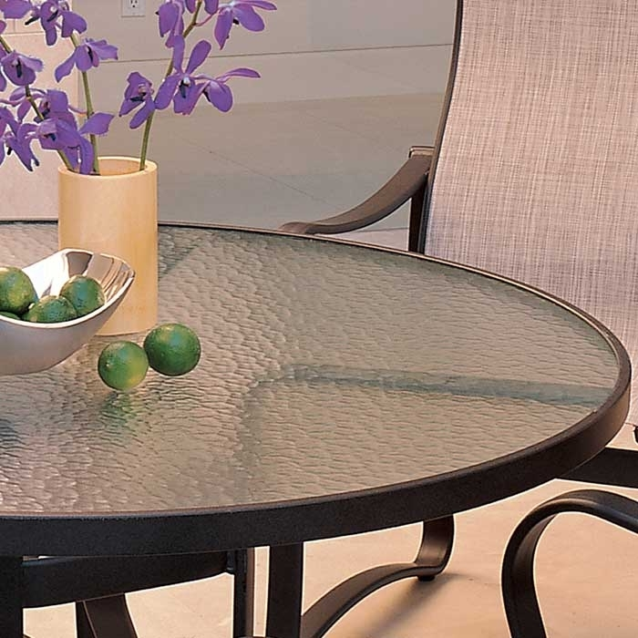 Acrylic Table | Outdoor Patio Acrylic Dining Table | Tropitone Inside Round Acrylic Dining Tables (Image 5 of 25)