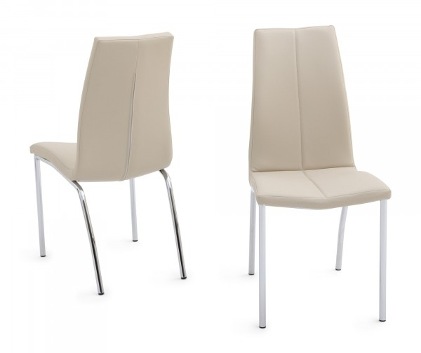 Ada Cream Leather Dining Chair Intended For Cream Leather Dining Chairs (View 11 of 25)