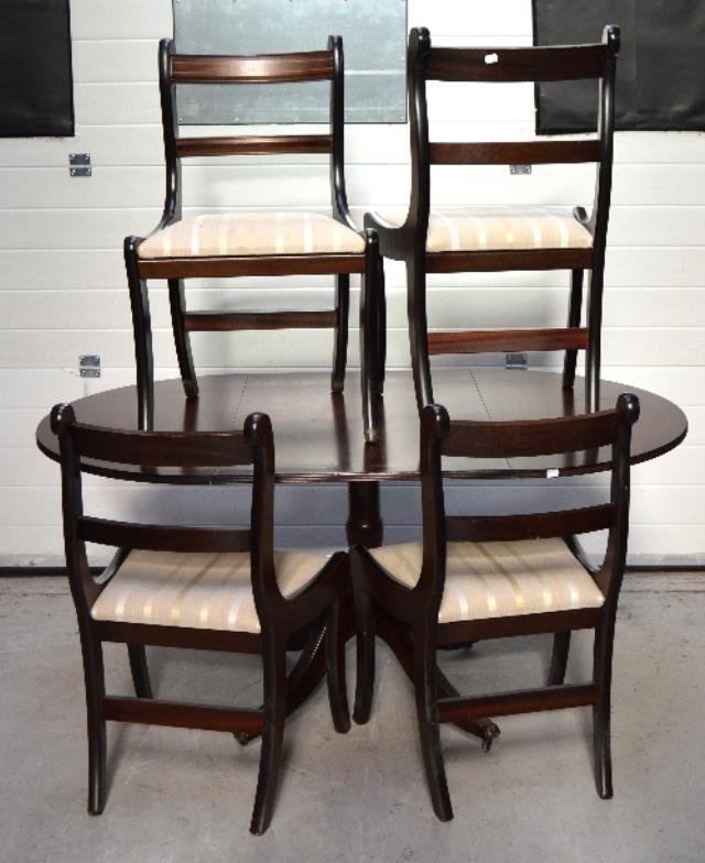 Adam Partridge Auctioneers – The Liverpool Saleroom : A Reproduction Throughout Partridge 6 Piece Dining Sets (Image 8 of 25)