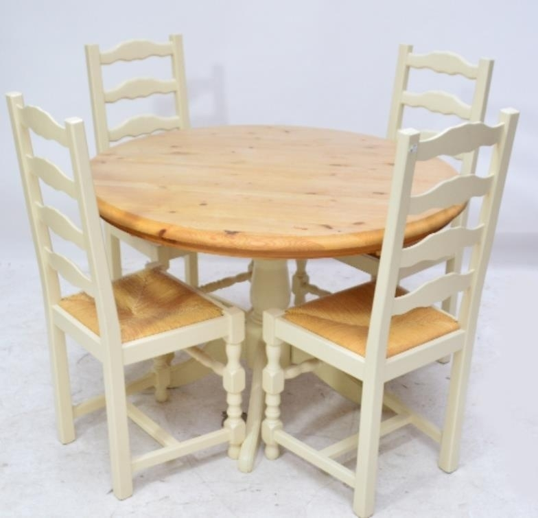 Adam Partridge Auctioneers & Valuers : A Contemporary Pine Circular Throughout Partridge 6 Piece Dining Sets (Image 9 of 25)