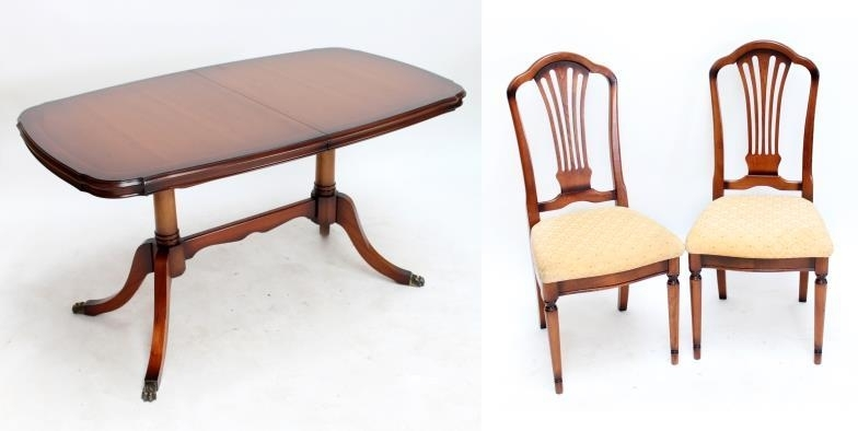 Adam Partridge Auctioneers & Valuers : A Reproduction Extending Inside Partridge Dining Tables (Image 3 of 25)